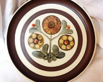 1960s 1970s Denby Langley Mayflower Dinner Plate Retro Vintage