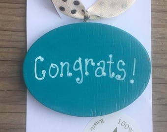 Congrats Wooden Gift Tags