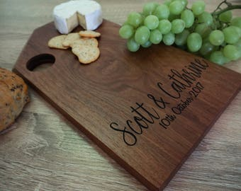 Chopping Board - Cheese Board - Serving Board - Personalised - Wedding Gift - Engagement Gift