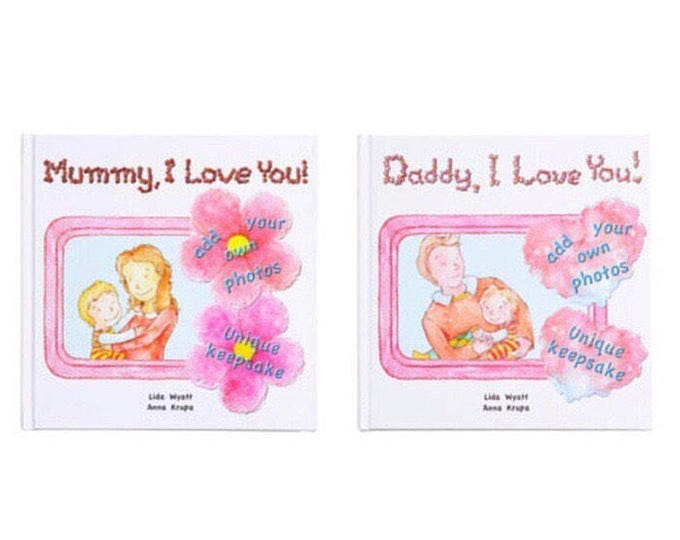 Daddy, I Love You! & Mummy, I Love You! bundle - Choose from 3 Hair/Skin Colour Options