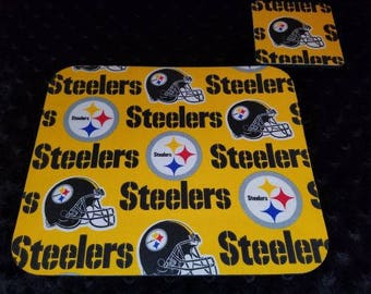 Pittsburgh Steelers Mouse Pad and Coaster Set