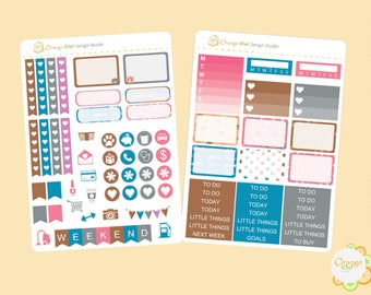 Nerdy Cat Mini Kit, Weekly Kit for Erin Condren Life Planner, Plum Paper, Happy Planner, Filofax, Cat Stickers