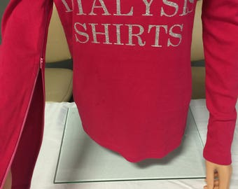 Dialysis Shirts, Shirts with Zipper Sleeves, Chemo Shirts, Access Shirts FREE SHIPPING