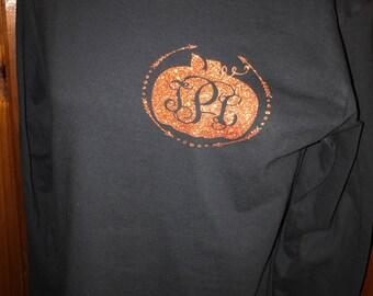 Preppy Pumpkin Monogrammed Tee