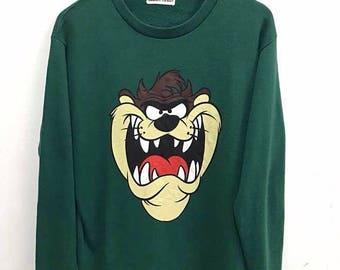 Mega venta 20% Vintage Looney Tunes Walt Disney sudadera suéter de dibujos animados de Taz Mania
