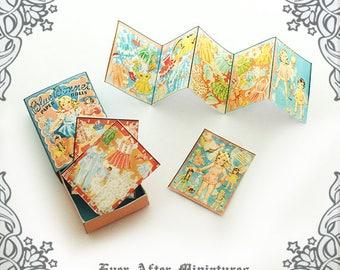 BLUE BONNET Dollhouse Paper Doll Set – 1:12 Vintage Dollhouse Miniature Paper Doll Matchbox Dollhouse Paperdoll Match Box Printable DOWNLOAD