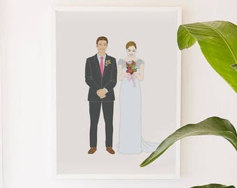 Custom Couple Portrait for wedding gift ever