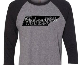 Tennessee t-shirt - Tennessee state shirt - Tennessee home t-shirt - home shirt - Tennessee baseball shirt - Tennessee raglan shirt