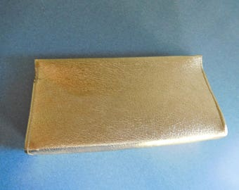 Vintage Gold Lame Evening Bag Clutch Purse for Dining Out
