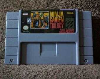 Ninja Gaiden Trilogy Super Nintendo SNES Repro - Free Shipping