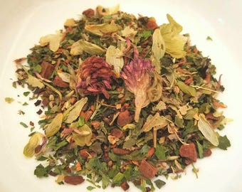 Pixie Dust - Sleep tea, Herbal, All Natural, Organic, Vegan, Red Clover Blossoms & Herb, Hops, Honeybush, Lemon Balm, Cinnamon, Skullcap