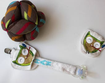 Pacifier that has an integrated pouch