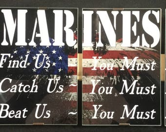 Military signs, Army, Navy, Air Force, Marines, Veterans Signs