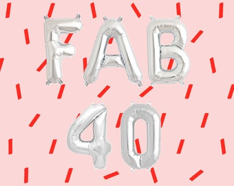 """FAB 40 Letter Balloons 