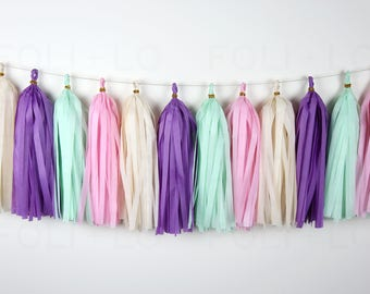 UNICORN TWIST Tassel Garland | Birthday Garland | Bachelorette Garland | Baby Gender Garland | Engagement Garland | Wedding Garland | 15