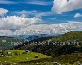Mountain Farm / Aurland / Aurlandsfjord / Wall Art / Home and Office Decor / Travel Photography