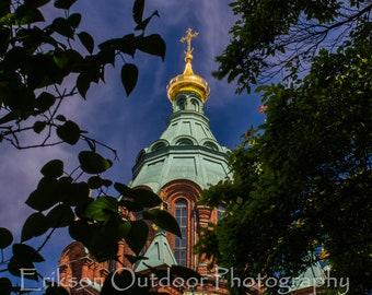 Helsinki Finland / Uspenski / Eastern Orthodox Cathedral / Wall Art / Home Decor / Office Decor / Travel Photography
