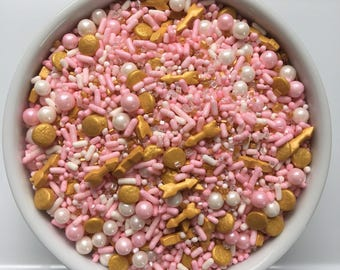 6 oz Pink and Gold Boho- Sprinkles- Jimmies- Quins