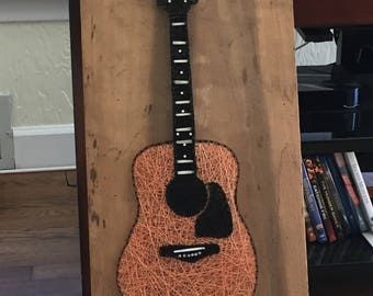 Made to Order Acoustic Guitar String Art