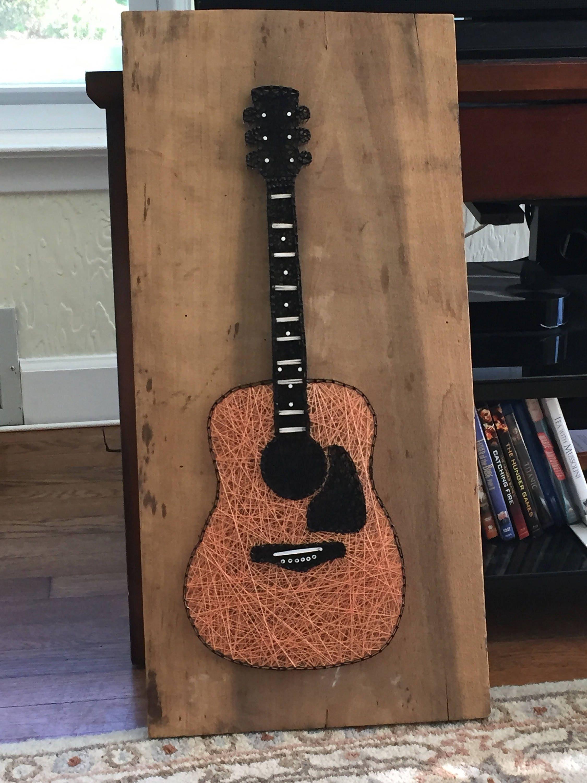 made to order acoustic guitar string art. Black Bedroom Furniture Sets. Home Design Ideas