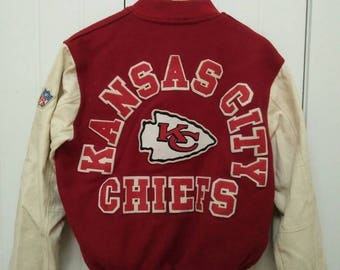 Rare Vintage KANSAS CITY CHIEF Varsity Jacket Size M Medium Made in Usa