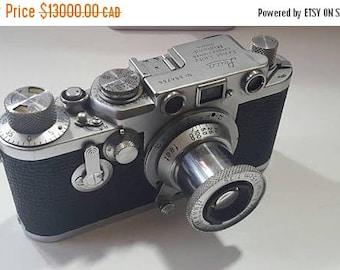 ON SALE Vintage Leica IIIf Midland with Elmar Lens - Very Rare Find