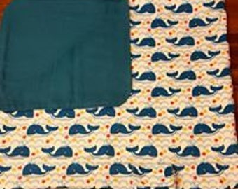Carseat Canopy - Whale Print