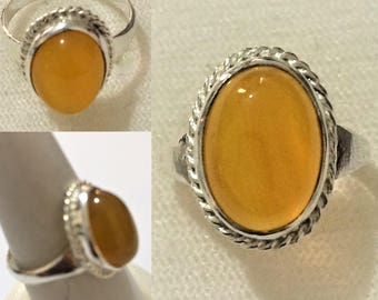 Solid 925 Sterling Silver Ring 100% Original Agate (Aqeeq)