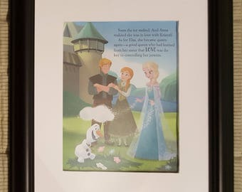 Happily Ever After - Frozen - Disney - Aproximaitely 6 x 8 inches