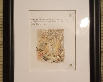 Gathering Blackberries - The Tale of Peter Rabbit - Beatrix Potter - Aproximaitely 5 1/2 x 7 1/2 inches