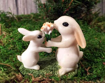 Flowers for Mom Rabbits - miniature enchanted fairy garden