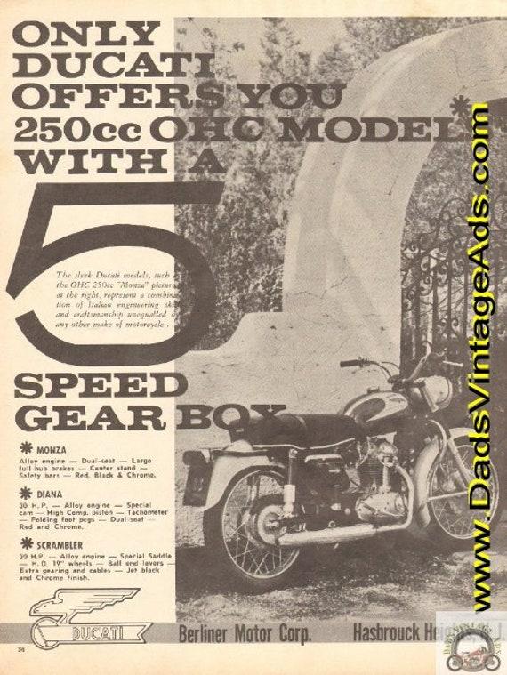1964 Ducati OHC 250cc Monza Vintage Ad #e64ha13