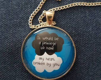 The Fault in our Stars-inspired Necklace | Glass Pendant | It would be a privilege