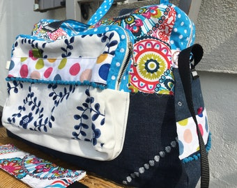 Diaper jeans, large bag weekend bag * on order - fabric choices *.