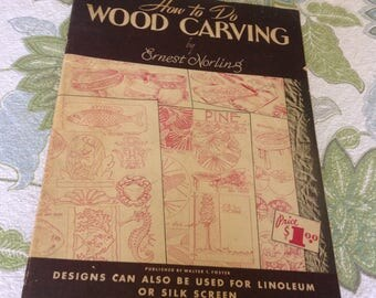 GHow to Do Wood Carving. 1970,s Edition