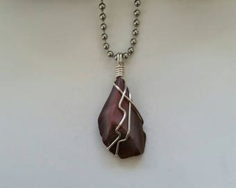 Mookaite Necklace, Jasper, Pendant, Wire Wrapped Pendant, Sterling Silver, Root Chakra, Healing Necklace, Crystal Jewelry, Australian Jasper