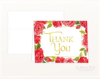 BEAUTY and the BEAST Be Our Guest Thank You Cards / personal stationery folded notecards