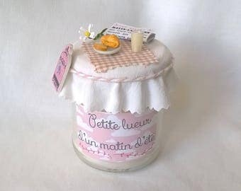 """Little ray of a summer morning"" candle"