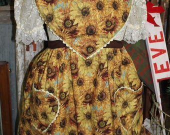 Sunflower/Heart Apron