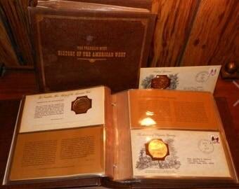 Franklin mint history of West 24k gold over sterling medals