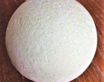 Banana Coconut Bath Bomb/White Bath Bomb/Pina Colada/Bath Fizzies/Vegan/Glitter Bath Bomb