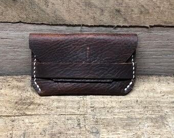 Handmade Leather Wallet, Minimalist Wallet, Dark Brown Leather Wallet, Card Wallet, Card Holder, Card Holder Wallet