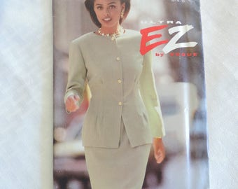 Vogue Ultra EZ 8281 Size 12-16 Misses Jacket and Skirt Sewing Pattern / Uncut FF