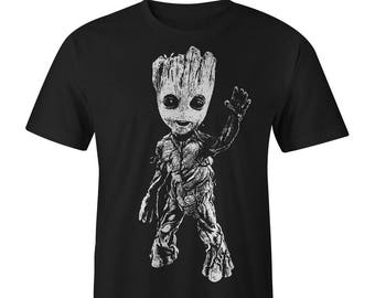 Groot Full Front Baby Groot Youth T-shirt, Guardians of the Galaxy Tee Guardians of the Galaxy Shirts Guardians of the Galaxy T-shirts Groot