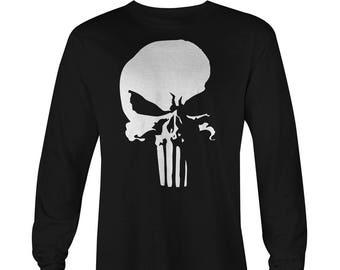 Punisher Logo Long Sleeve T-shirt , Punisher Shirt , Punisher Tee, Marvel Punisher Long Sleeve T-shirt, DareDevil Netflix Long Sleeve Tee