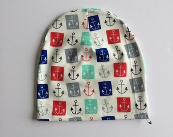 Slouchy Toque | Slouchy Beanie | Baby and Toddler | Anchors