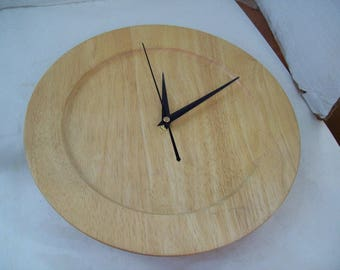 """12"""" Wooden Plate Clock, Free Shipping, Kitchen Clock, Free Shipping"""
