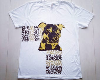 Hand painted T-shirt: Staffordshire Terrier