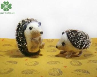 Felted hedgehogs Felt hedgehog Hedgehog fibres Dollhouse felted toy