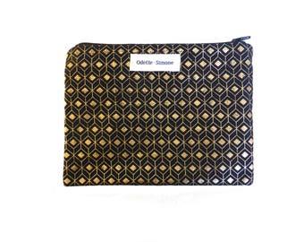 SOFIA clutch gold patterns